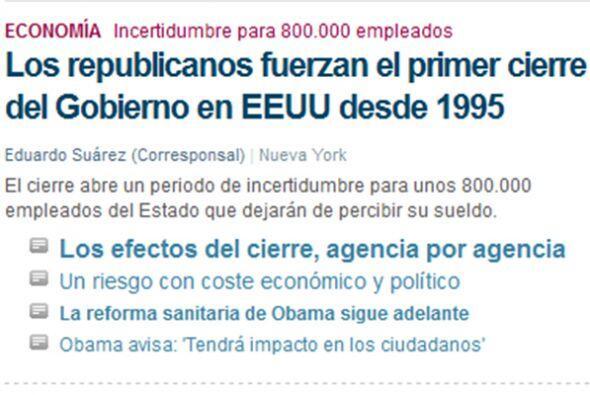 """En tanto, el también español """"El Mundo"""" destaca el riesgo en que se enco..."""