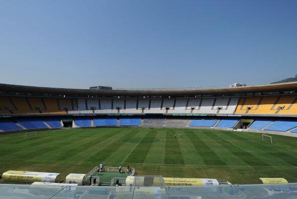 Las obras de reforma del legendario estadio Maracaná de Río de Janeiro e...