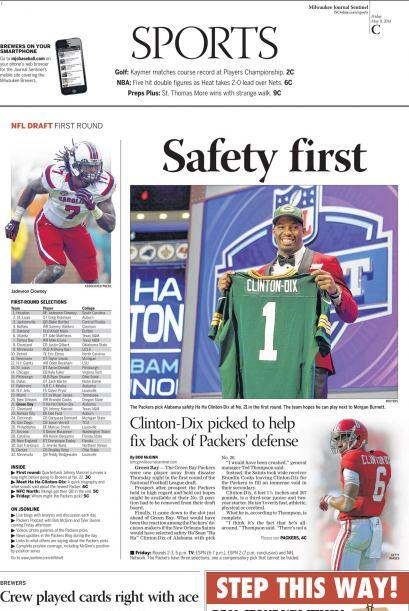 Milwaukee Journal Sentinel.
