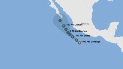 Hurricane forecast: Bud threatens the Baja California peninsula
