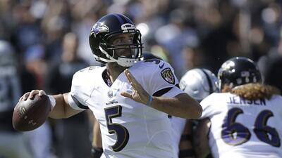 Joe Flacco, quarterback de los Ravens de Baltimore.