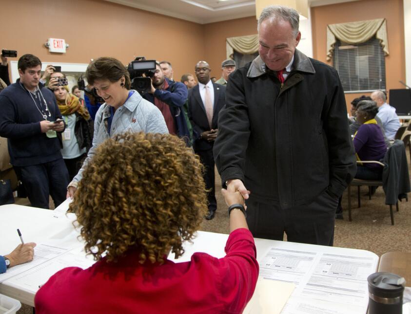 En fotos: la jornada electoral en Virginia 2016 Election Kaine_Cama_kain...