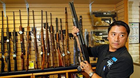 Una tienda de armas en Las Vegas, Nevada.