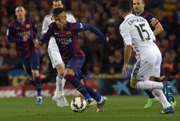 Neymar (5): Desaprovechó una ocasión clarísima antes del gol del empate...
