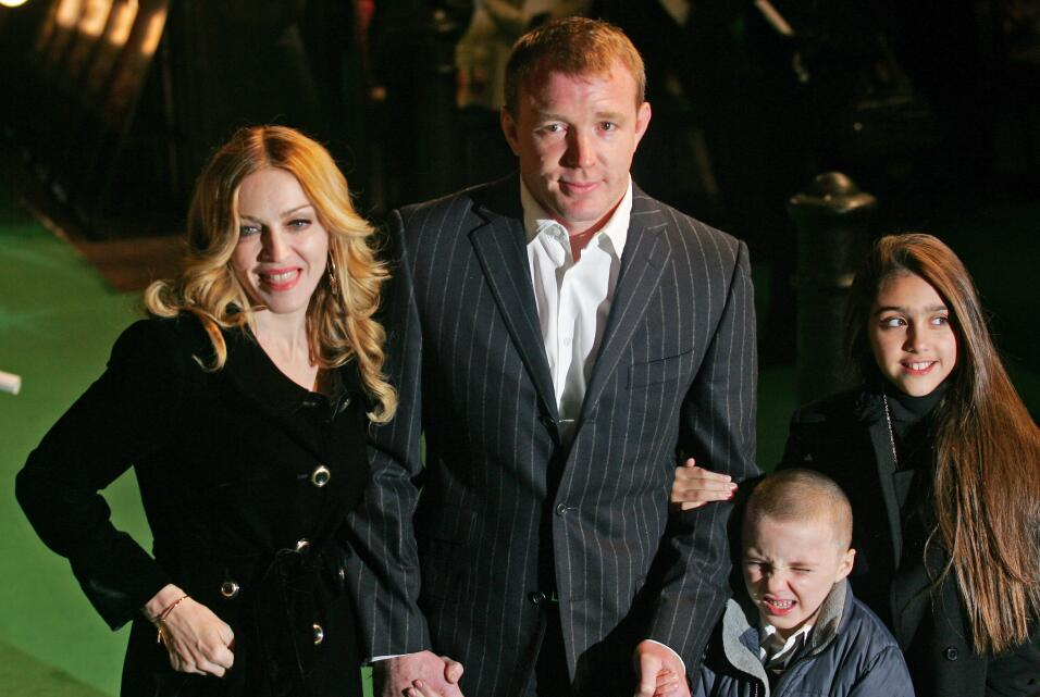 US Pop Star Madonna, her husband and British Film Director Guy Ritchie...