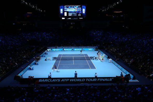 En el O2 Arena de Londres se enfrentaron Roger Federer y David Ferrer en...