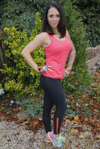 La arriesgada mamá regresó al gimnasio cuatro meses después de dar a luz