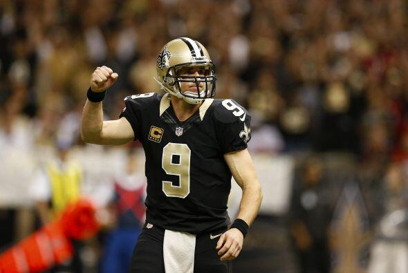 Drew Brees, quarterback de los New Orleans Saints y capitán de Team Rice...