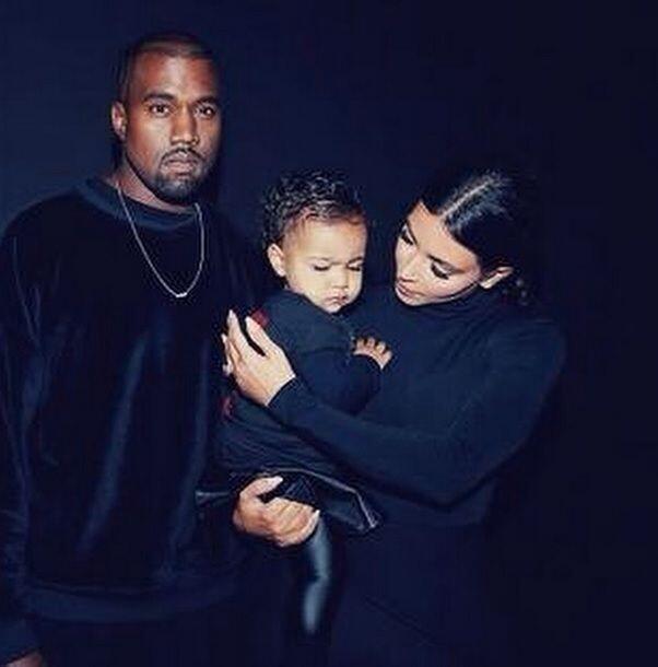 La pequeña North West es el alma de esta familia.