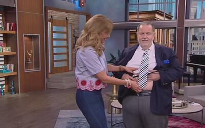 No se pierdan a Raúl y a Lili mostrando sus abdómenes al mismísimo estil...
