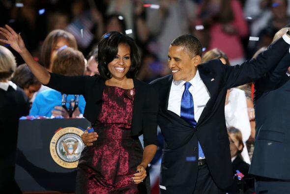 Barack Obama festejó el martes su victoria electoral declarando q...