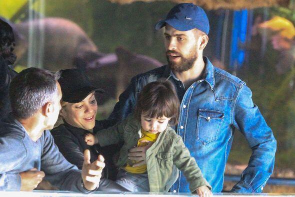 Shakira y Piqué llevaron al pequeño Milan al acuario. Mira aquí los vide...