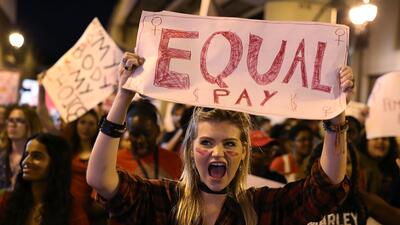 Una protesta a favor de los derechos de la mujer en Miami.