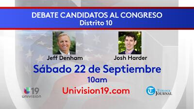 No te pierdas el debate entre Jeff Denham y Josh Harder para representar al distrito 10 en California