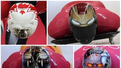 Para todos los gustos, los cascos más espectaculares del skeleton en los Juegos Olímpicos de Invierno