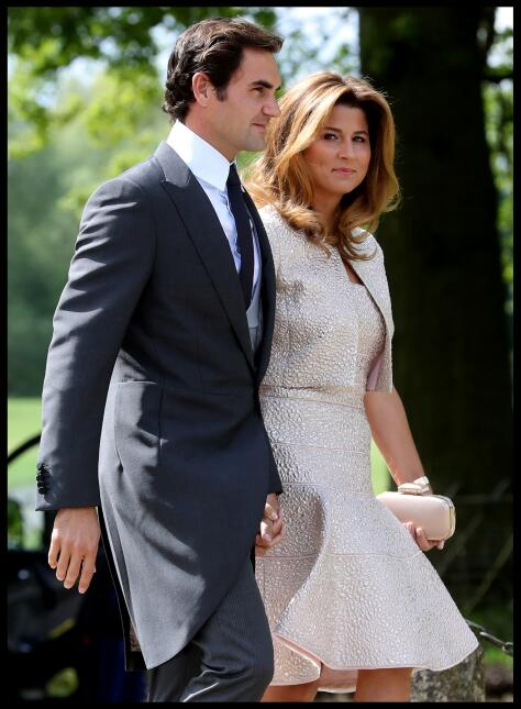 Roger Federer y su esposa Mirka son una de las parejas que presenciaron...