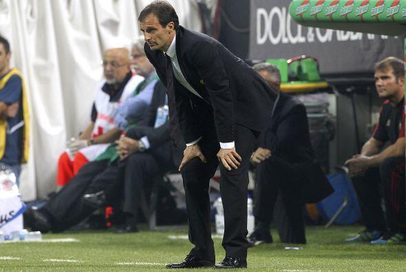 El técnico del Milan, Massimiliano Allegri, se mostró tranquilo.