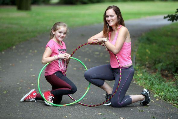 Ella se inspiró después de ver a su hija jugando con su aro de hula hula...