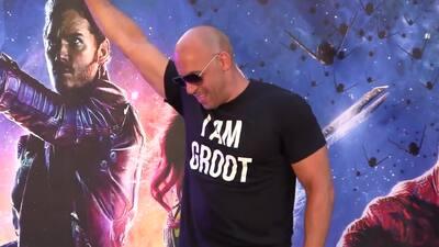 Vin Diesel lleva zancos al lanzamiento de 'Guardians of the Galaxy'