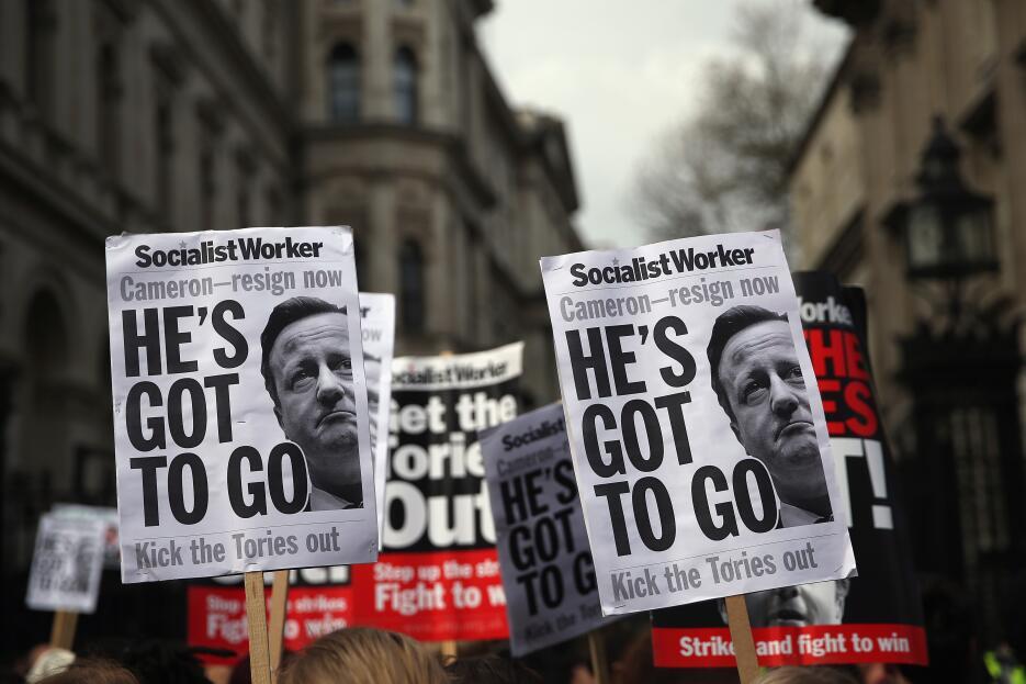 Protestan para pedir la dimisión de Cameron por los #PanamaPapers 1.jpg