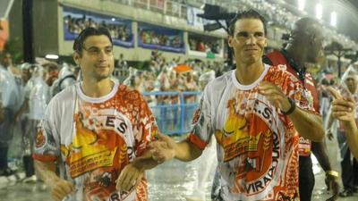 En compañia de David Ferrer, el tenista español desfiló por el sambódromo.