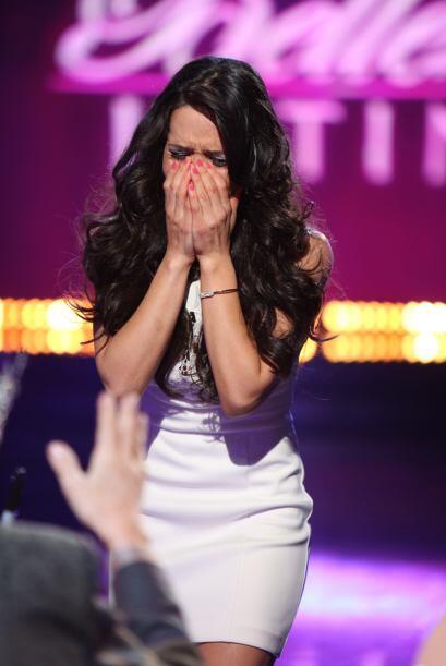 Fue otra de las concursantes que no pudo contener el llanto al escuchar...