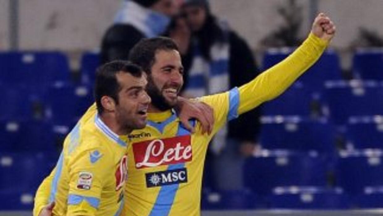 El 'Pipita' y Pandev, junto a Callejón, marcaron los goles con los que e...