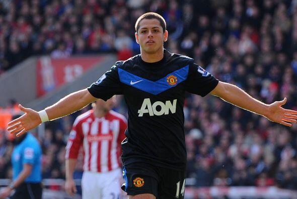 Javier Hernández tuvo un día inolvidable ante el Stoke City