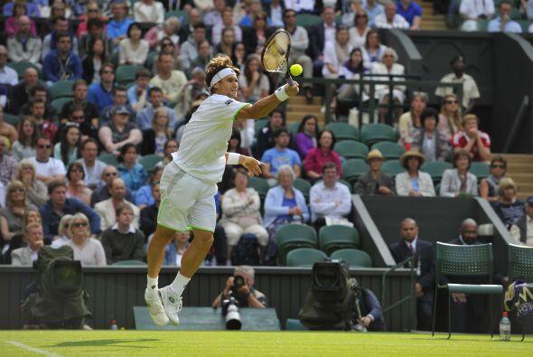 Uno que sufrió pero ganó, fue el español David Ferrer.