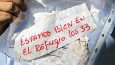La cápsula que sirvió para rescatar a los mineros, el primer mensaje que...