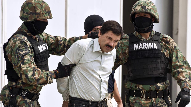 El Chapo Guzmán cuando fue arrestado en febrero de 2014.