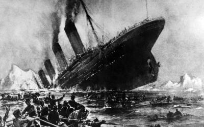 Dibujo sin fecha del hundimiento del Titanic, en el que murieron aproxim...