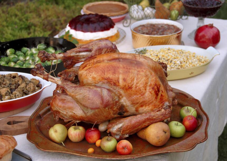 organizar cena de thanksgiving