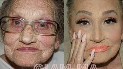 La abuelita de la maquillista Tea Flego se ha convertido en la má...