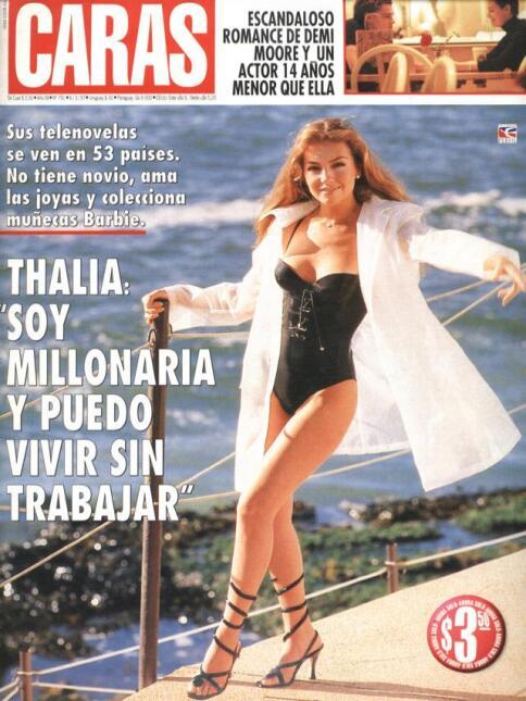 Y en la foto más sexy que ha hecho Thalía para una revista, en el 1996 l...
