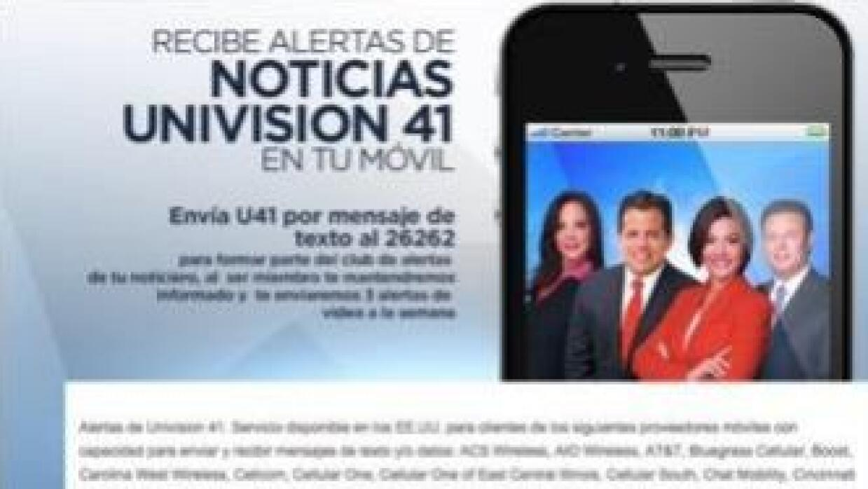 Alertas Univision 41
