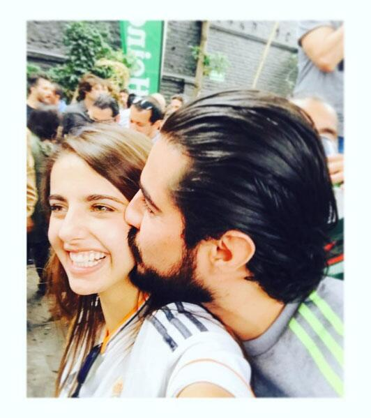 Michelle Renaud y su novio
