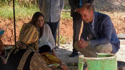 El príncipe William repite una foto de la infancia de Kate Middleton, 34 años después