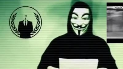 Captura de pantalla del video de Anonymous
