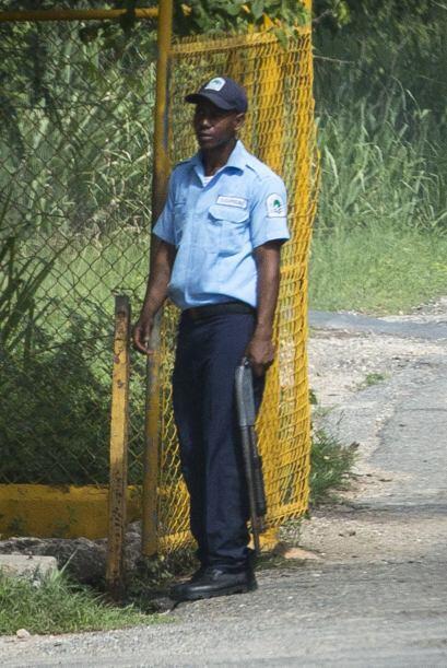 Varios vigilantes resguardaron la zona.
