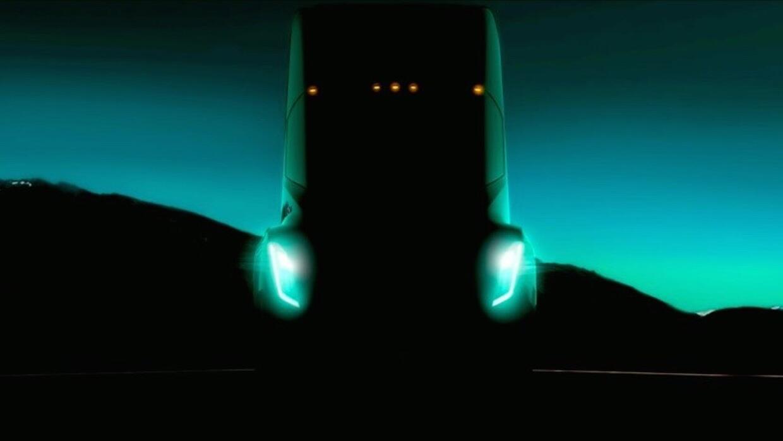 Imagen de intriga del próximo camión de carga de Tesla.