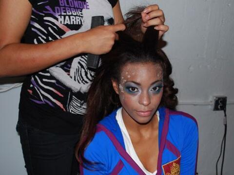 Para lucir un look congelado se requiere de maquillaje especial.