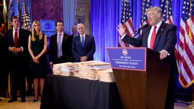 Como presidente electo, Trumpo dejó claro que no quería depositar sus ri...