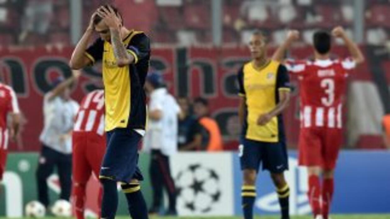 El Atlético fue víctima de sus errores en Grecia.