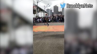 ¿A lo Steph Curry? La espectacular canasta por la que un niño fue felicitado por los Brooklyn Nets