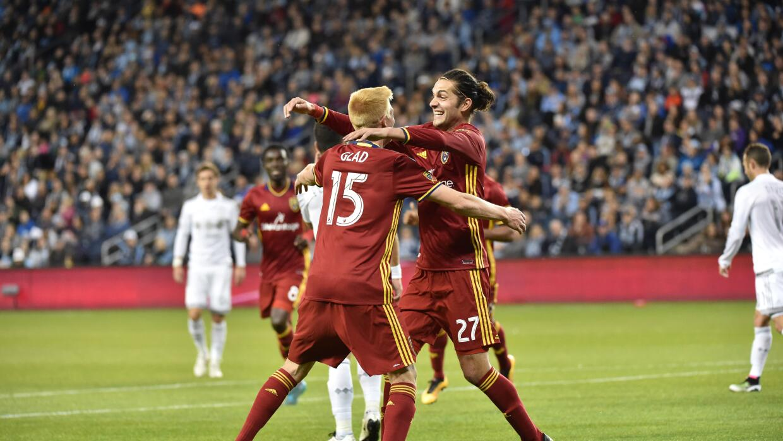Real Salt Lake celebra victoria sobre Sporting KC