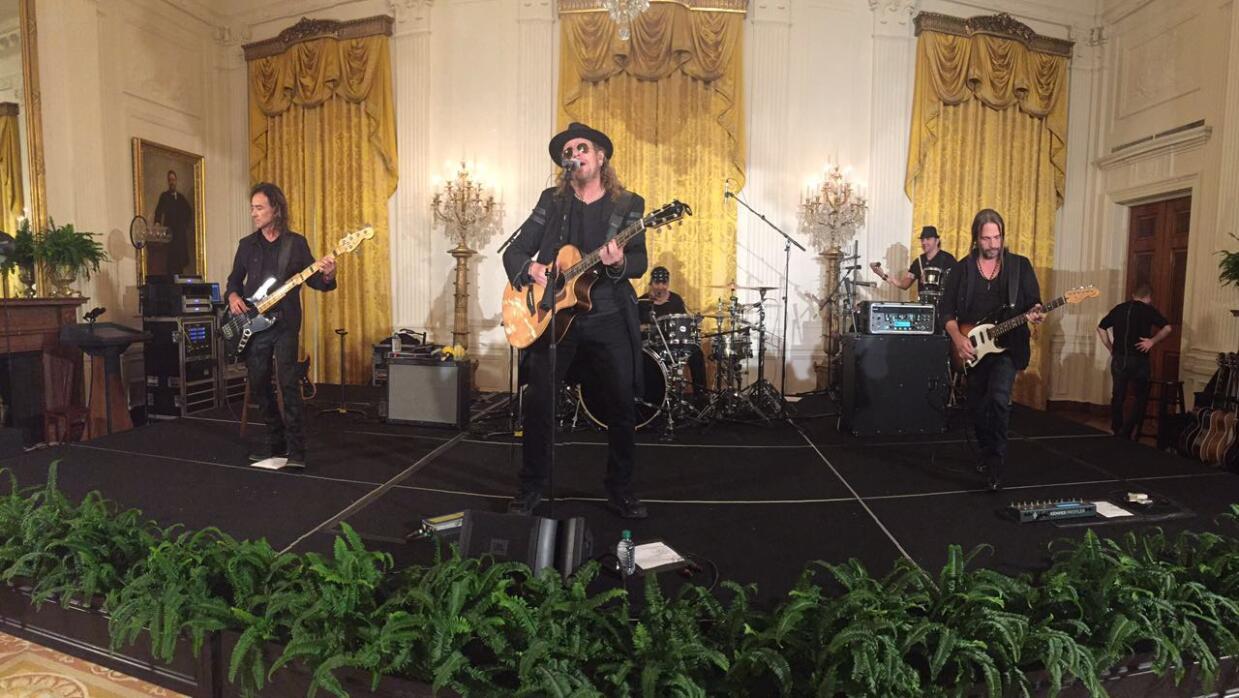 Actuación del grupo Maná en la Casa Blanca.