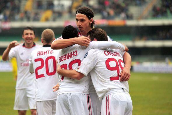 El Milan mantuvo su paso ganador por la Liga italiana en su encuentro de...