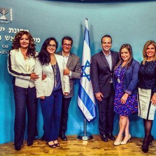Las estrellas se reunieron con el Primer Ministro de Israel durante su v...