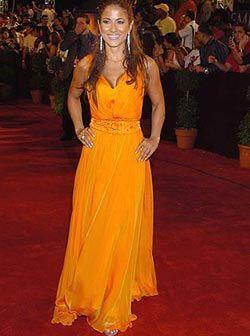 Jackie Guerrido esta vez prefirió un vestido largo. No importa cuál sea...